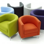 Modern Colored Tub Chairs