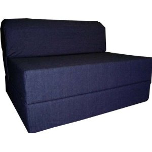 Adult Folding Chair Bed in Blue