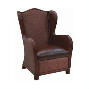 Angel Wing Back Chair with Leather Seat